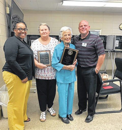 Hunsucker, Pinkston honored for service as election precinct officials