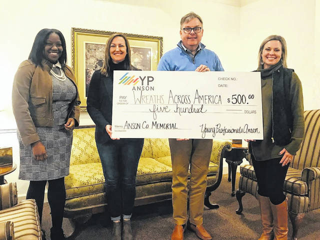 Young Professionals Anson donates $500