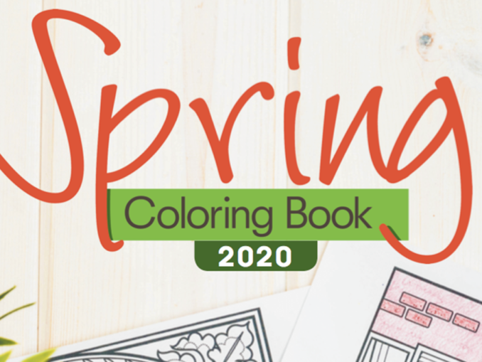 Spring Coloring Book