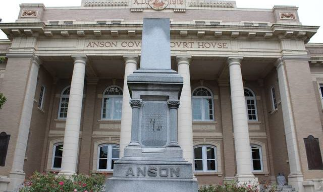The confederate statue outside the courthouse in Wadesboro was removed around 5:15 a.m.                                  Charles Wood   The Anson Record
