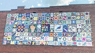 Barn quilt display gives visitors a Wadesboro welcome